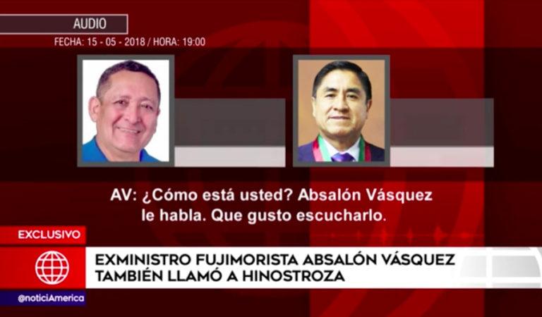 Absalón Vásquez también llamó a juez César Hinostroza