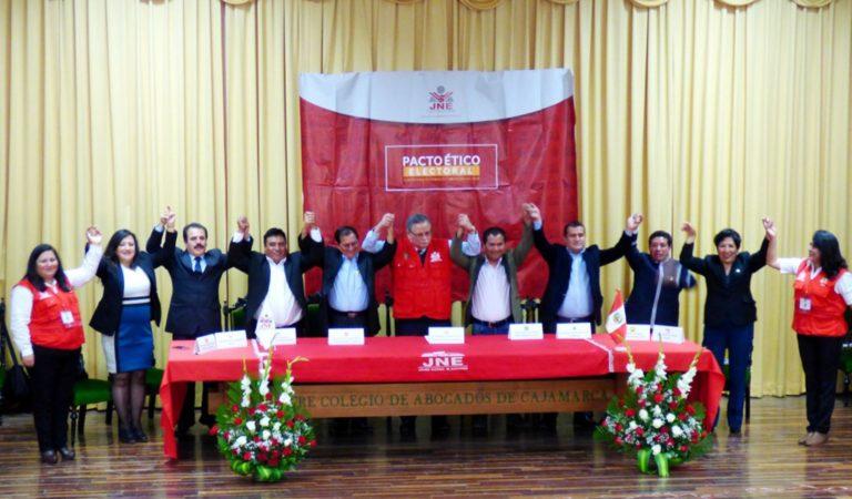 Candidatos a Gobierno Regional de Cajamarca firman pacto ético