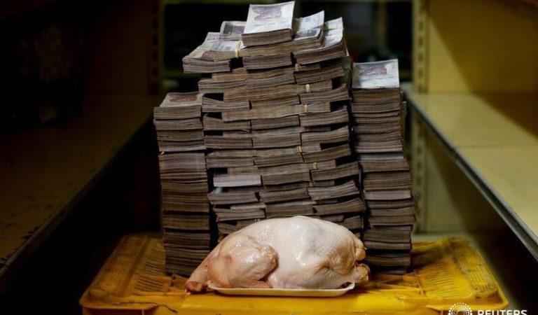 Precios de los productos básicos y los bolívares que necesitan para comprarlos en Venezuela
