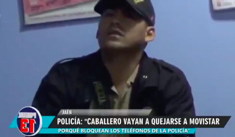 """Policía a vecino denunciante: """"Caballero, vaya a quejarse a Movistar"""""""