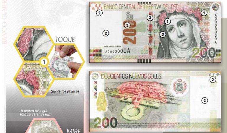 Cómo saber si tu billete de 200 soles es verdadero o falso