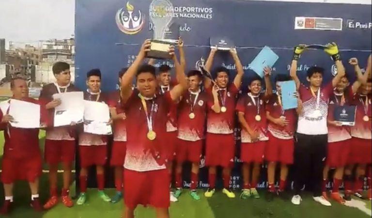 William Prescot de Cajamarca se coronó Campeón Nacional Sub 17 en los Juegos Deportivos Escolares