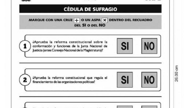 Conoce la cédula de sufragio del Referéndum del 9 de diciembre
