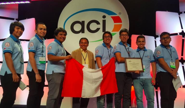 Estudiantes de la UNI logran el primer lugar en mundial con la mejor mezcla de concreto