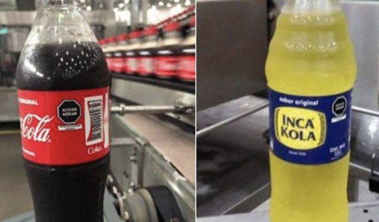 """Inca Kola y Coca Cola implementan en su etiquetado de """"Alto en azúcar"""""""