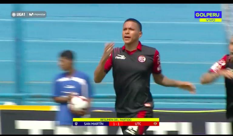 Liga 1: UTC consiguió un empate ante San Martín en Lima