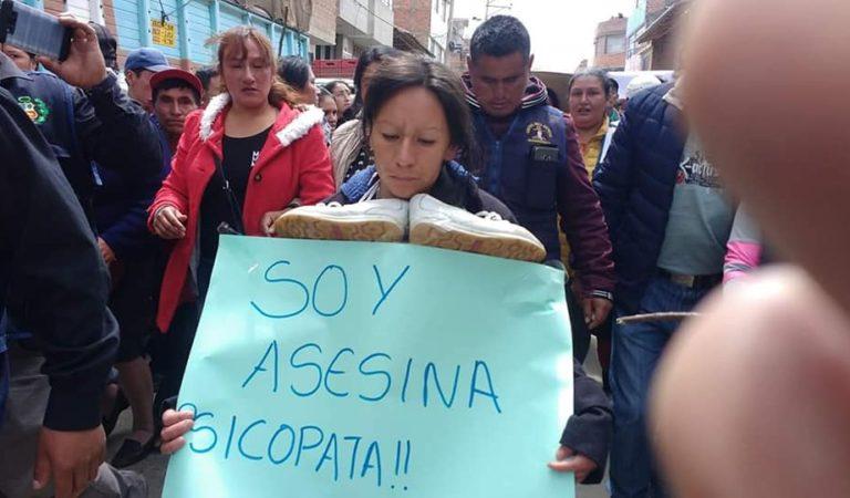 Presunta asesina de joven ingeniero es paseada en las calles de Huamachuco