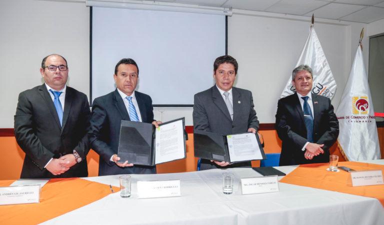 UPAGU y la Cámara de Comercio firman convenio para contribuir en la reactivación de la economía en la región