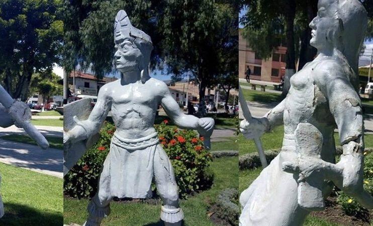 20 mil soles le costó a la municipalidad de Baños del Inca las estatuas de la plaza de armas