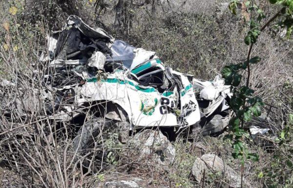 Accidente de patrullero en Chota